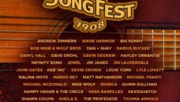 Oates Song Fest Line Up Poster